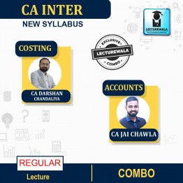 CA Inter Combo Costing & Accounts Regular Course : Video Lecture + Study Material By CA Darshan Chandaliya & CA Jai Chawla (For Nov. 2021 & May 2022)
