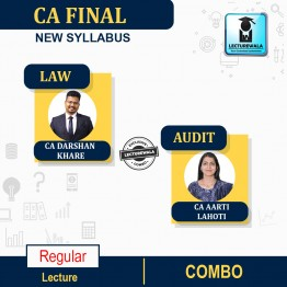 CA Final Audit & Law Combo Regular Course : Video Lecture + Study Material By CA Aarti Lahoti & CA Darshan Khare (For Nov. 2021 & May 2022)