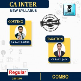 CA Inter Taxation & Costing Regular Course Combo : Video Lecture + Study Material By CA Sahil Jain & CA Rahul garg (For Nov.2021 & May 2022)