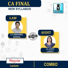 CA Final Audit & Law Combo Regular Course : Video Lecture + Study Material By CA Aarti Lahoti & CA Abhishek Bansal (For Nov. 2021 & May 2022)