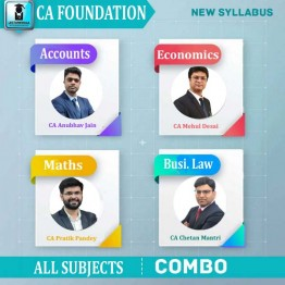 CA Foundation Combo Regular Course : Video Lecture + Study Material By CA Anubhav Jain, Chetan Mantri, Mehul Desai and Pratik Pandey  (For May 2021 & Nov. 2020)