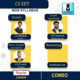 CSEET Enterence Exam Combo Regular Course : Video Lecture + Study Material By CS Gaurav Maheshwari, CA Mehul Desai, CA Pratik Pandey And Saiffudin Sir (For Nov. 2020)