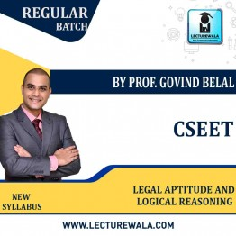 CSEET Legal Aptitude and Logical Reasoning Full Course : Video Lecture + Study Material By Prof. Govind Belal ( May 2021 onwards)