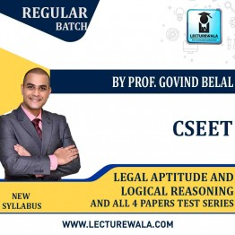 CSEET Legal Aptitude and Logical Reasoning Full Video Lectures With All 4 Papers Test Series and E-Notes ; By Prof Govind Belal ( May 2021 onwards)