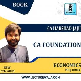 CA Foundation Eco. MCQ Book New Syllabus : By CA Harshad jaju (For Nov. 2021 & May 2022)