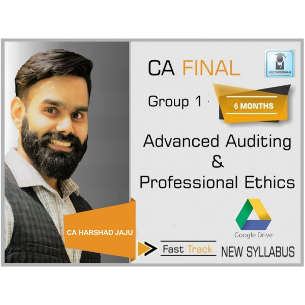 CA Final Audit New Syllabus Crash Course : Video Lecture + Study Material By CA Harshad jaju (For May 2020)
