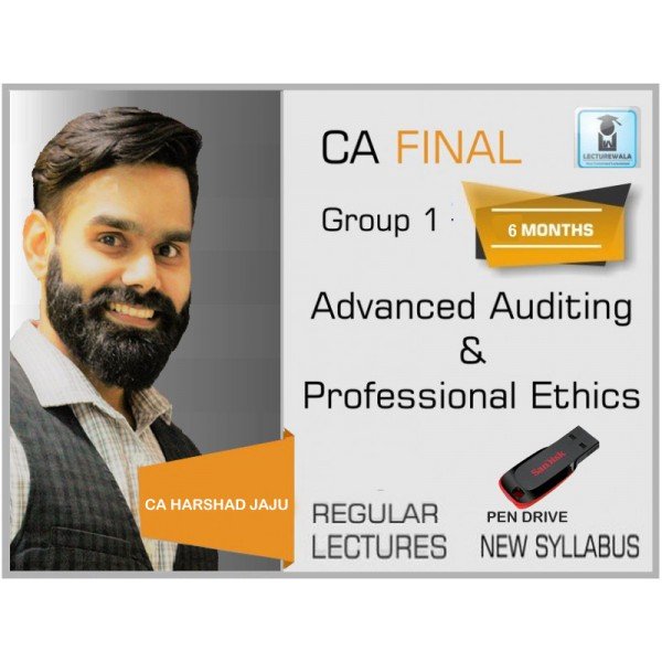 CA Final Audit New Syllabus Regular Course : Video Lecture + Study Material By CA Harshad Jaju (For Nov. 2019 & Onwards)