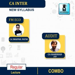 CA Inter FM Eco and Audit (1.3 Views) Full Course Combo : Video Lecture + Study Material By CA Swapnil Patni and CA Harshad Jaju (For Nov. 2021& May 2022)