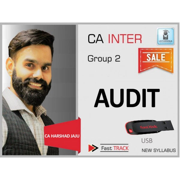 CA Inter Audit Crash Course : Video Lecture + Study Material By CA Harshad Jaju (For Nov. 2019 & Onwards)
