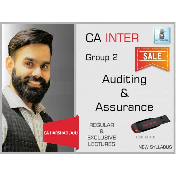 CA Inter Audit Regular Course : Video Lecture + Study Material By CA Harshad Jaju (For May 2020 & Nov. 2020)