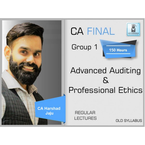 CA Final Audit Old Syllabus Regular Course : Video Lecture + Study Material By CA Harshad Jaju (For May 2020 & Nov. 2020)