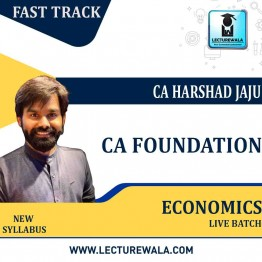 CA Foundation Economics Fastrack Online Live  : Video Lecture + Study Material By CA Harshad Jaju (For May 2021 & Nov. 2021)