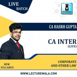 CA Inter Corporate And Other Law Live Regular Course: Video Lectures + Study Materials by CA Harsh Gupta (For May 2022 & Nov. 2022)