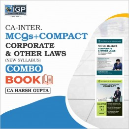 CA Inter Law [MCQ+Compact Book]: Study Material By CA Harsh Gupta (For Nov. 2021)