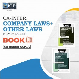 CA Inter Law [Company Laws  & Other Laws Book]: Study Material By CA Harsh Gupta (For May/Nov. 2021)
