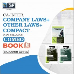 CA Inter Law [Company Laws +Other Laws & Compact Book]: Study Material By CA Harsh Gupta (For May/Nov. 2021)