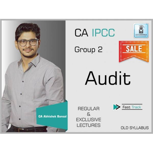 CA Ipcc Audit Regular Course : Video Lecture + Study Material By CA Abhishek Bansal (For May & Nov. 19)