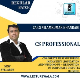 CS Professional Combo - (CRILW + RCDNCR ) New Syllabus Regular Course : Video Lecture + Study Material by CA CS Nilamkumar Bhandari (For June-21, Dec-21)