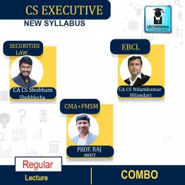 CS Executive MODULE-2 ( Paper-8 FMSM + Paper-5 CMA + Paper- 6 SLCM + Paper-7 EBCL) COMBO Regular New Syllabus : Video Lecture + Study Material by Inspire Academy (For June-21, Dec-21)