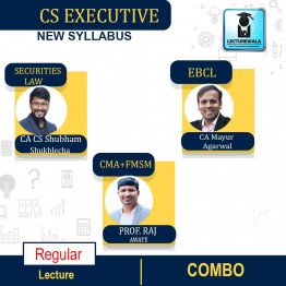 CS Executive MODULE-2 (Paper-8 FMSM + Paper-5 CMA + Paper- 6 SLCM + Paper-7 EBCL) COMBO New Syllabus : Video Lecture + Study Material by Inspire Academy (For June-21, Dec-21)