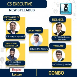 CS Executive BOTH MODULE (ALL PAPERS) COMBO New Syllabus : Video Lecture + Study Material by Inspire Academy (For Dec 2021 & June 2022)