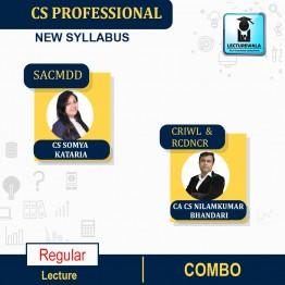 CS Professional MODULE - 2 Combo -  (CRILW + RCDNCR + SACMDD ) Regular New Syllabus : Video Lecture + Study Material by CS Somya Kataria and CA CS Nilamkuar Bhandari (For June-21, Dec-21)
