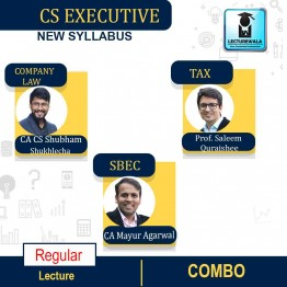 CS Executive Module -1 Combo - (PAPER-2 CL + PAPER-3 SBEC + PAPER-4 TAX) New Syllabus Regular : Video Lecture + Study Material by Inspire Academy (For June-21, Dec-21)