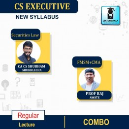 CS Executive Paper-8 FMSM + Paper-5 CMA + Paper- 6 SLCM COMBO New Syllabus : Video Lecture + Study Material by Inspire Academy (For June-21, Dec-21)