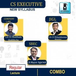 CS Executive Module -1 Combo - (SBEC + JIGL + CL ) New Syllabus : Video Lecture + Study Material by Inspire Academy (For June-21, Dec-21)