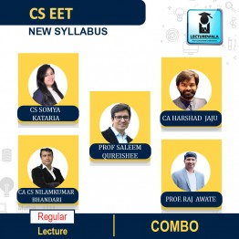 CS EET Combo - (ECO + Legal Apti + BC + LR + BE + CA ) Regular New Syllabus : Video Lecture + Study Material by Inspire Academy (For May-21, july-21)