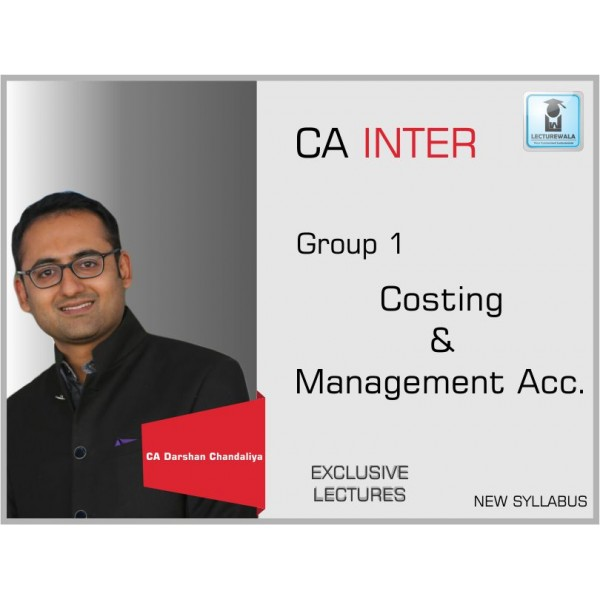 CA INTER COSTING & MANAGEMENT ACCOUNTING by DARSHAN CHANDALIYA