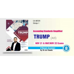 CA Inter Group-1 Trump Accounting Standard Summary Book : Study Material By CA Jai Chawla (For NOV.2021)