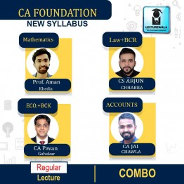 CA Foundation All Subject Combo Regular Course : by CS Arjun Chhabra, Prof. Aman Khedia, CA Jai Chawla & CA Pavan Gahukar  (For Nov. 2021 & May / Nov. 2022)