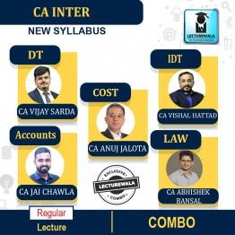 CA Inter GST + DT (TAXATION) + Law + Accounts + Costing COMBO   Regular Course : Video Lecture + Study Material By  CA VISHAL BHATTAD  CA VIJAY SARDA  CA JAI CHAWLA  CA ABHISHEK BANAL  CA ANUJ JALOTA (For Nov. 2021 )