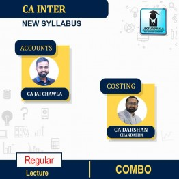 CA Inter Accounts And Costing Combo New Recorded Batch Regular Course : Video Lecture + Study Material By CA Jai Chawla  & CA Darshan Chandaliya (For May 2022 & Nov. 2022)
