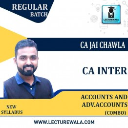 CA Inter Accounts & Advanced Accounts Full Recorded Regular Course : Video Lecture + Study Material By CA Jai Chawla (For NOV 2021)