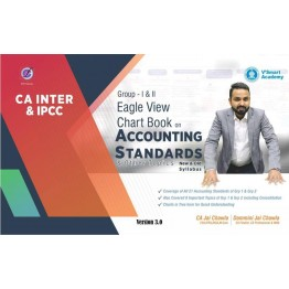 CA Inter Accounting (Both Group) Standard Revision Eagle View Charts Book  : Study Material By CA Jai Chawla (For Nov. 2021)