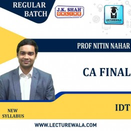 CA Final Indirect Tax In English Regular Course : New Syllabus by JK Shah Classes Prof Nitin Nahar (For May 2021 & Nov.2021)