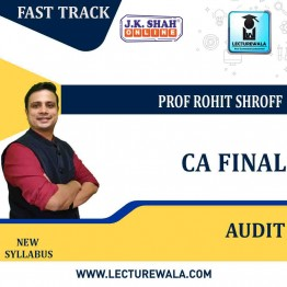 CA Final Advanced Audit and Professional Ethics Fast Track In Hindi + English : New Syllabus by JK Shah Classes Prof Rohit Shroff  (For May 2021 & Nov.2021)