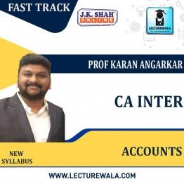 CA Inter Accounting Standards  Fast Track  in English  : New Syllabus by JK Shah Classes  Prof Karan Angarkar  (For May 2021 & Nov.2021)