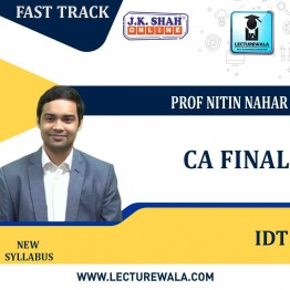 CA Final Indirect Tax In HINDI + English Fast Track  Course : New Syllabus by JK Shah Classes Prof Nitin Nahar (For May 2021 & Nov.2021)