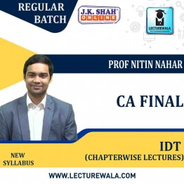 CA Final Indirect Tax In English Chapterwise Lectures : New Syllabus by JK Shah Classes Prof Nitin Nahar (For May 2021 & Nov.2021)