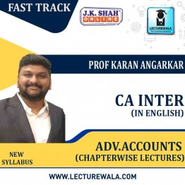 CA Inter Adv. Accounting Standards FastTrack ChapterWise Lectures in English  : New Syllabus by JK Shah Classes  Prof Karan Angarkar  (For May 2021 & Nov.2021)