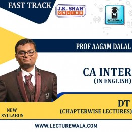 CA Inter Direct Tax Fast Track in English Chapterwise Lecture : New Syllabus by JK Shah Classes Prof  Aagam Dalal (For May 2021 & Nov.2021)