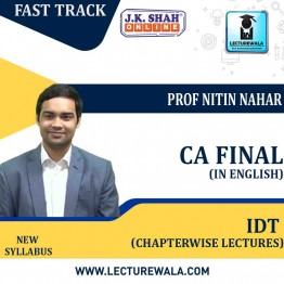 CA Final Indirect Tax In HINDI + English Fast Track Chapterwise Lectures : New Syllabus by JK Shah Classes Prof Nitin Nahar (For May 2021 & Nov.2021)