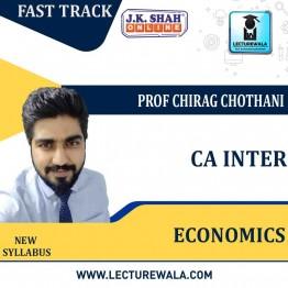 CA Inter Economics Fast Track  in Hindi  : New Syllabus by JK Shah Classes Prof Chirag Chothani  (For May 2021 & Nov.2021)