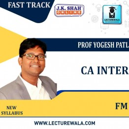 CA Inter Financial Management Fast Track  in Hindi : New Syllabus by JK Shah Classes Prof Yogesh Patil  (For May 2021 & Nov.2021)
