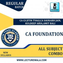 CA Foundation All Subject Combo Regular Course New Syllabus : Video Lecture + Study Material By CA CS Jitin Tyagi (For May 2021 & Nov. 2021)