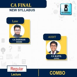 CA Final LAW & Audit New Syllabus Regular Course Combo by CA Darshan Khare  and CA Kapil Goyal ( MAY 2021 & Nov 2021)