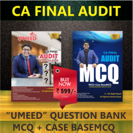 CA FINAL AUDIT Question Bank & MCQ BOOK (HARD BOOK): Study Material By CA Kapil Goyal (For Nov. 2021)